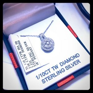Genuine diamond necklace